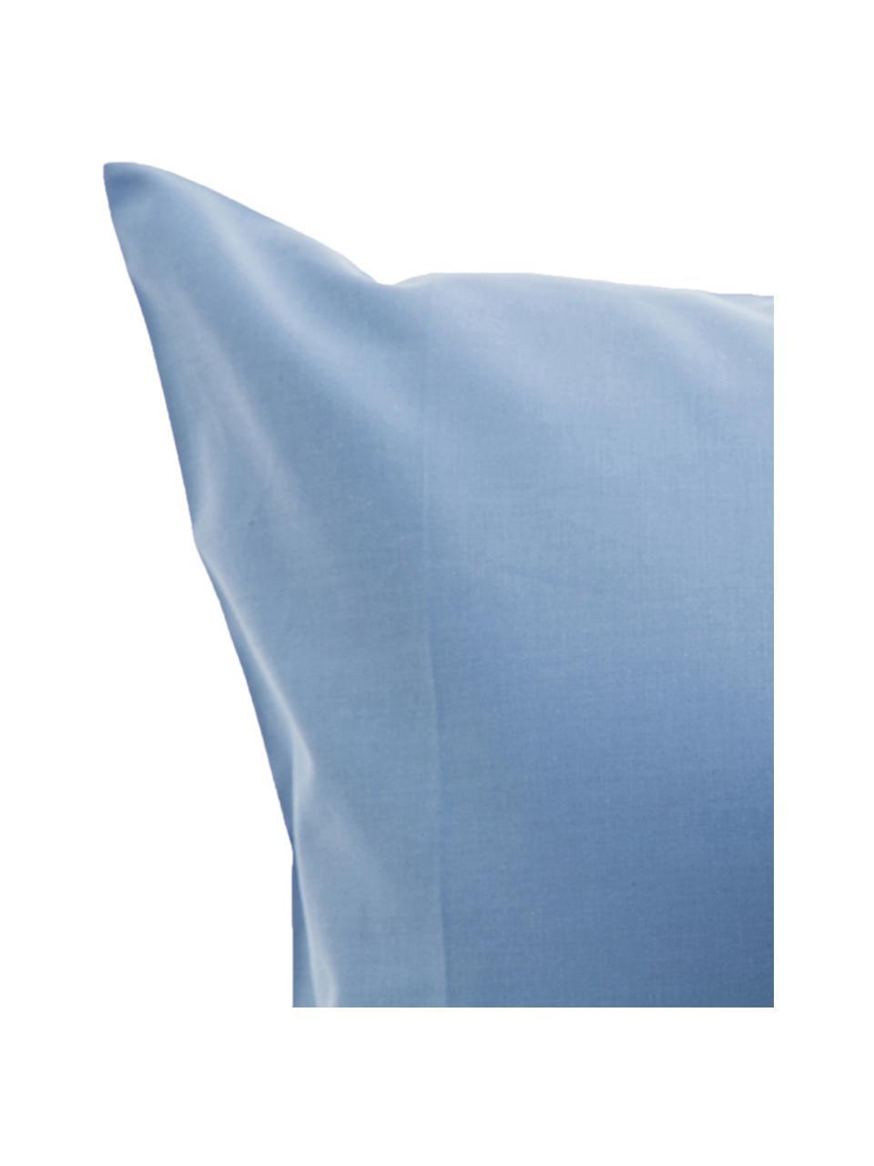 Set lenzuola azzurro in cotone ranforce Lenare, Fronte e retro: azzurro, 150 x 290 cm + 1 federa 50 x 80 cm