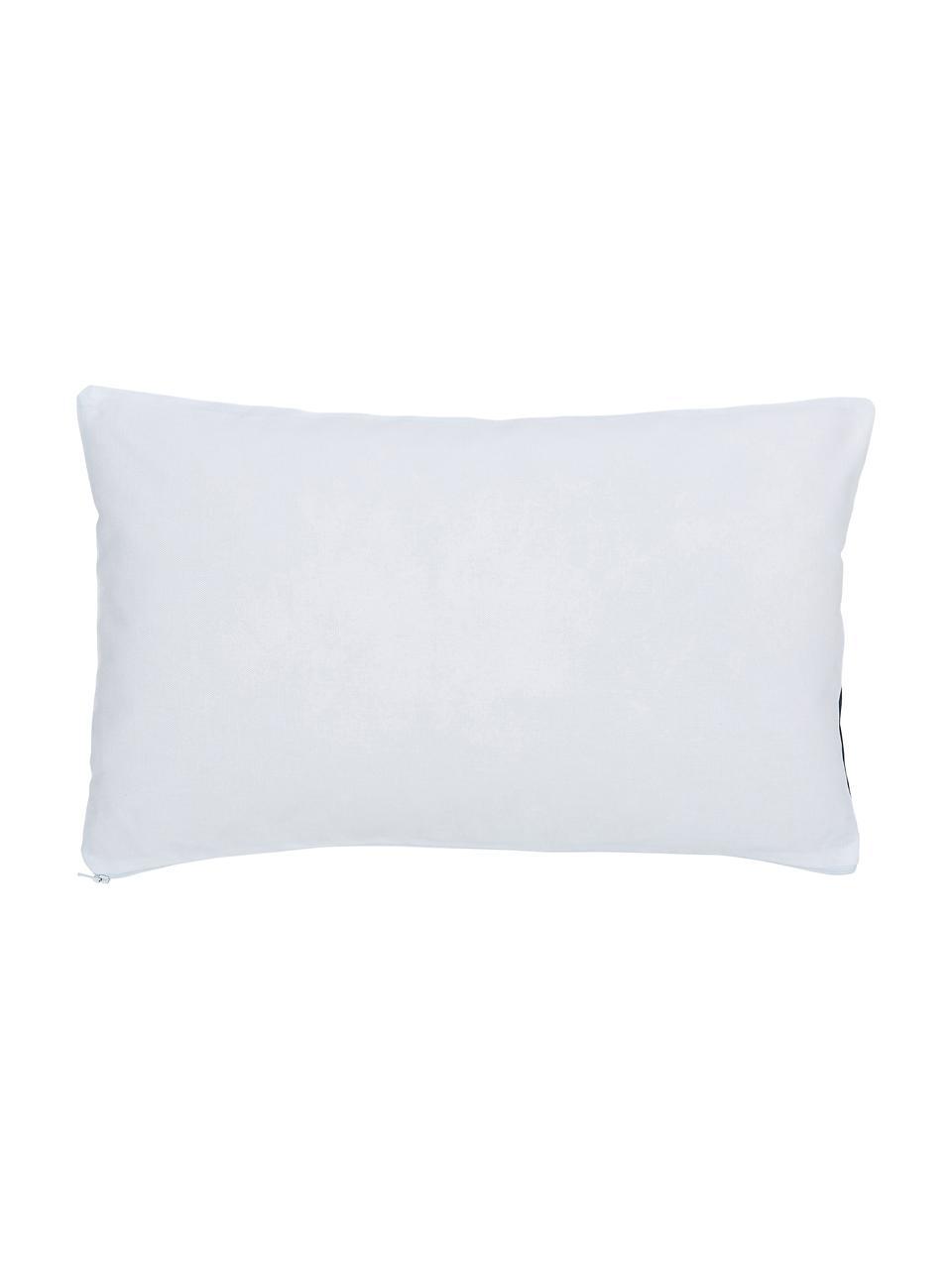 Gestreifte Kissenhülle Ren in Dunkelblau/Weiß, 100% Baumwolle, Weiß, Dunkelblau, 30 x 50 cm