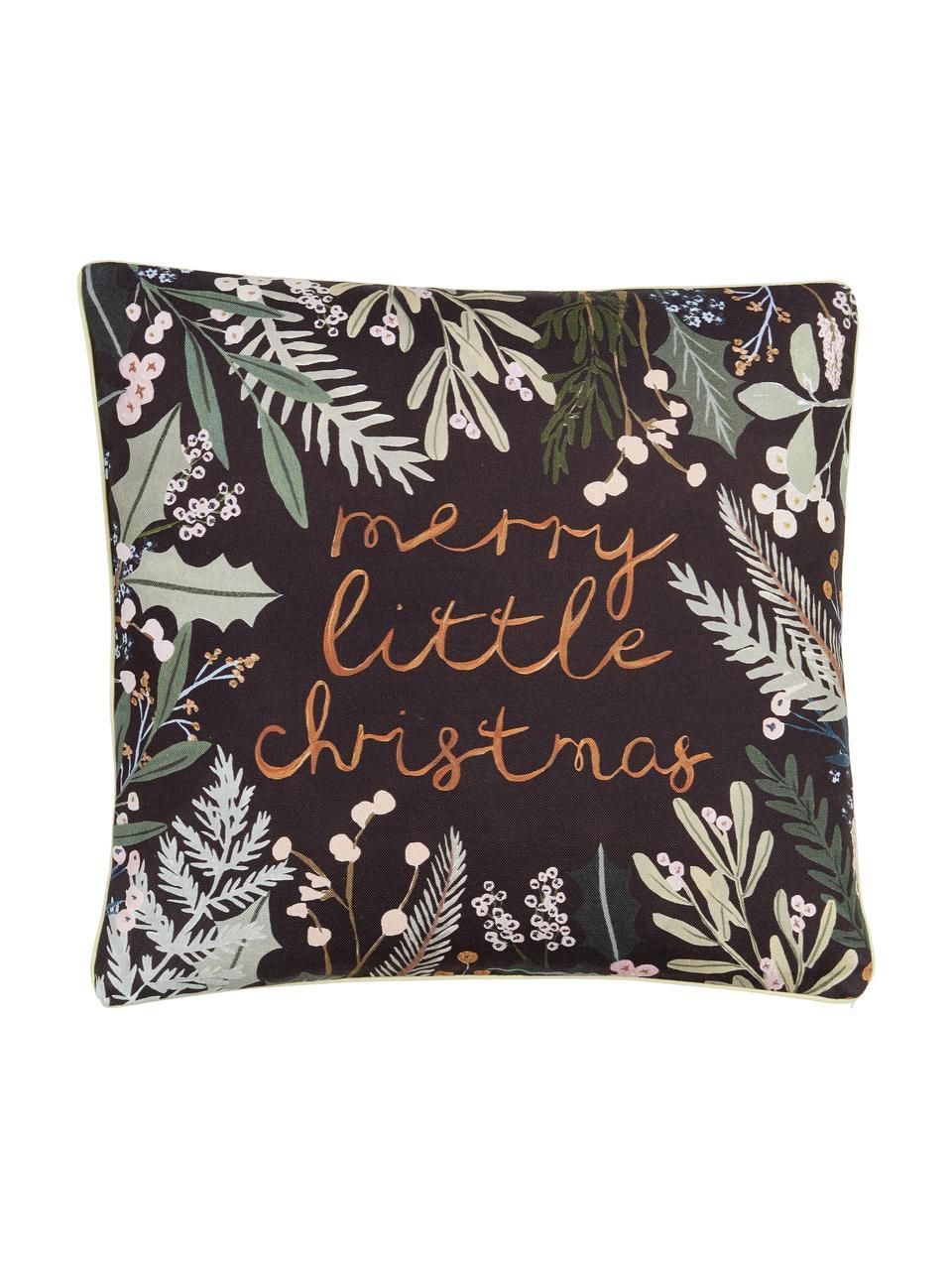 Housse de coussin 45x45 réversible Merry Little Christmas par Candice Gray, Multicolore