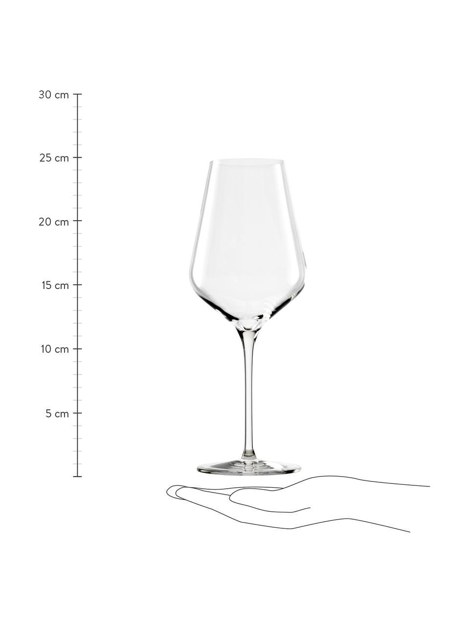 Kristallen rode wijnglazenset Quatrophil, 6-delig, Kristalglas, Transparant, Ø 10 x H 25 cm