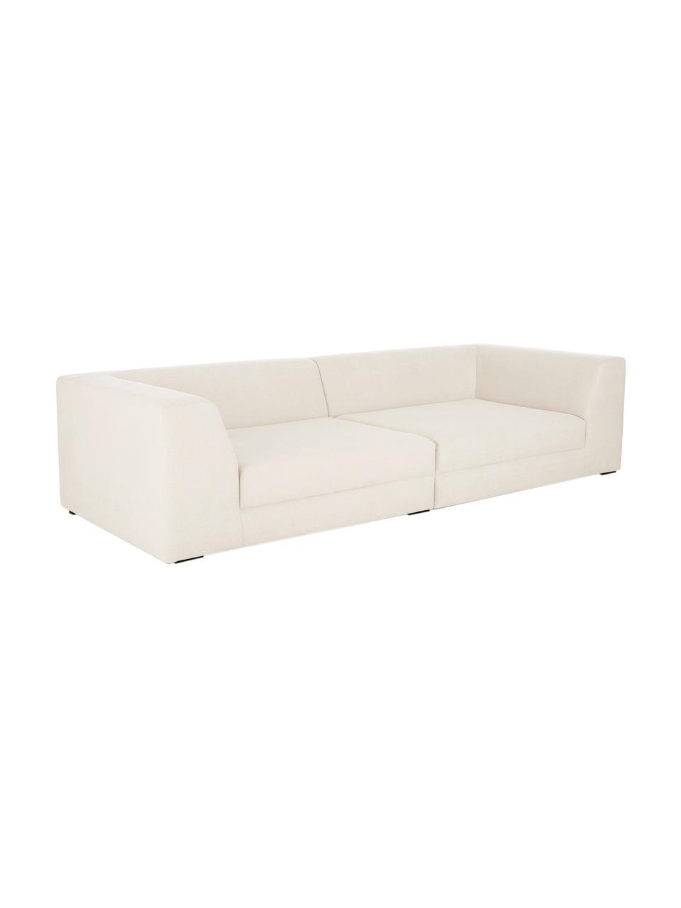 Sofa modułowa Grant (3-osobowa), Tapicerka: bawełna 20 000 cykli w te, Nogi: lite drewno bukowe, lakie, Beżowy, S 266 x G 106 cm