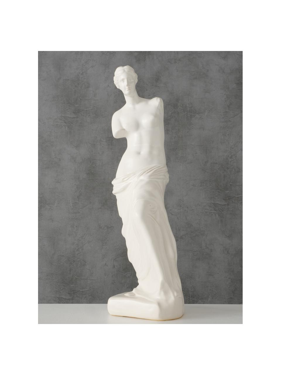 Oggetto decorativo Lorenza, Gres, Bianco, Larg. 12 x Alt. 41 cm