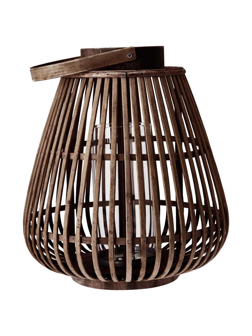 Laterne Balu, Braun, Ø 30 x H 33 cm