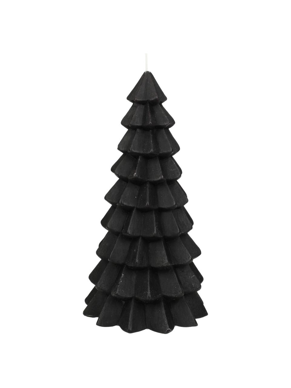 Kerze Christmas Tree H 20 cm, Paraffinwachs, Schwarz, Ø 10 x H 20 cm