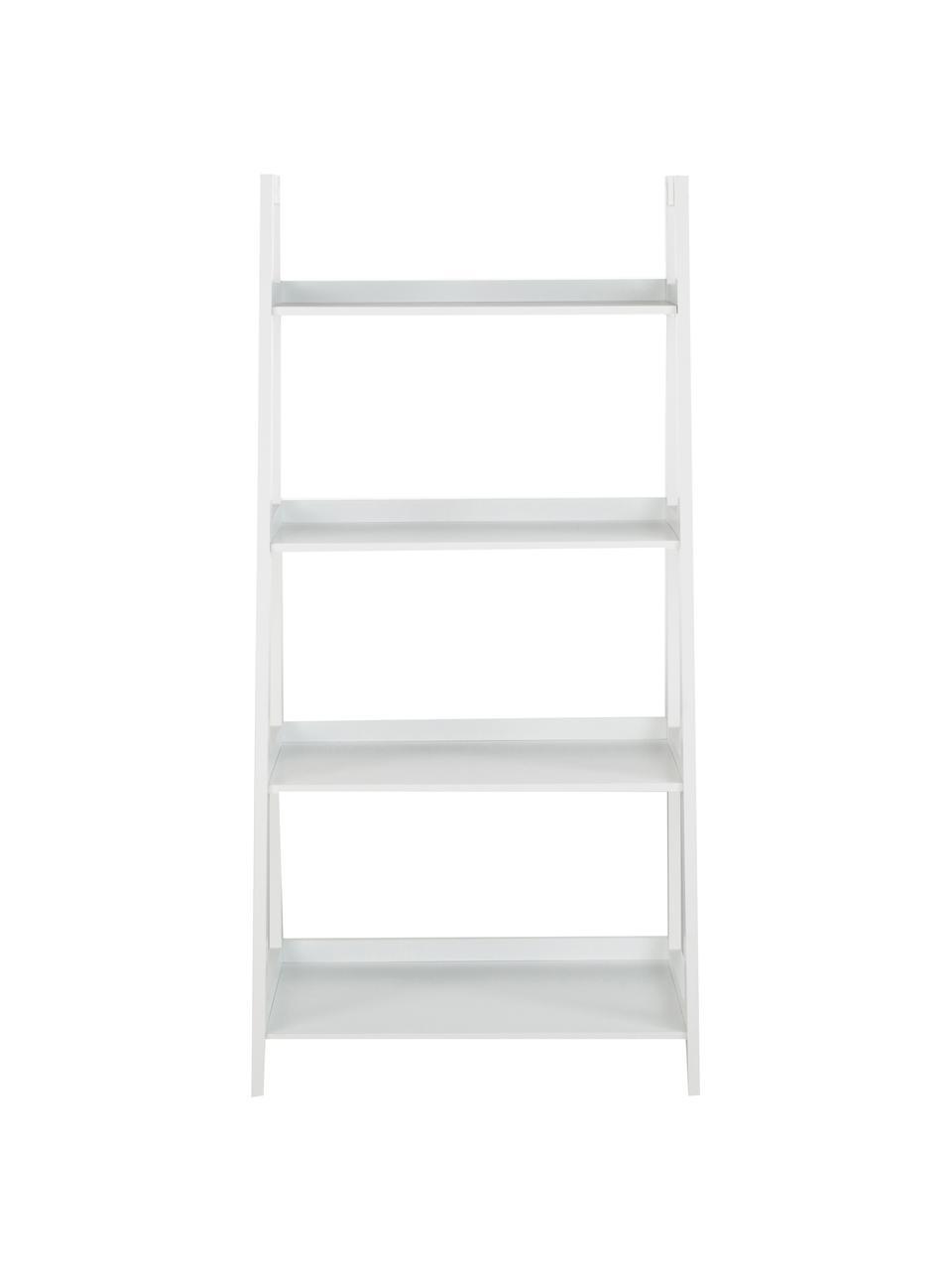 Niedriges Standregal Wally in Weiß, Mitteldichte Holzfaserplatte (MDF), lackiert, Weiß, 63 x 130 cm