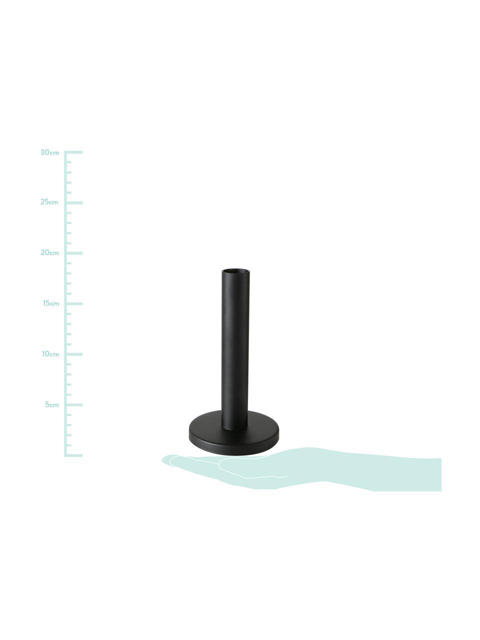 Kerzenhalter-Set Malko, 3-tlg., Metall, beschichtet, Schwarz, Sondergrößen
