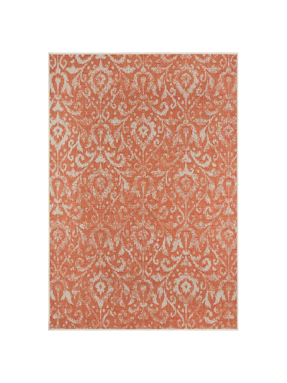 Tapis intérieur-extérieur vintage Hatta, Orange, beige