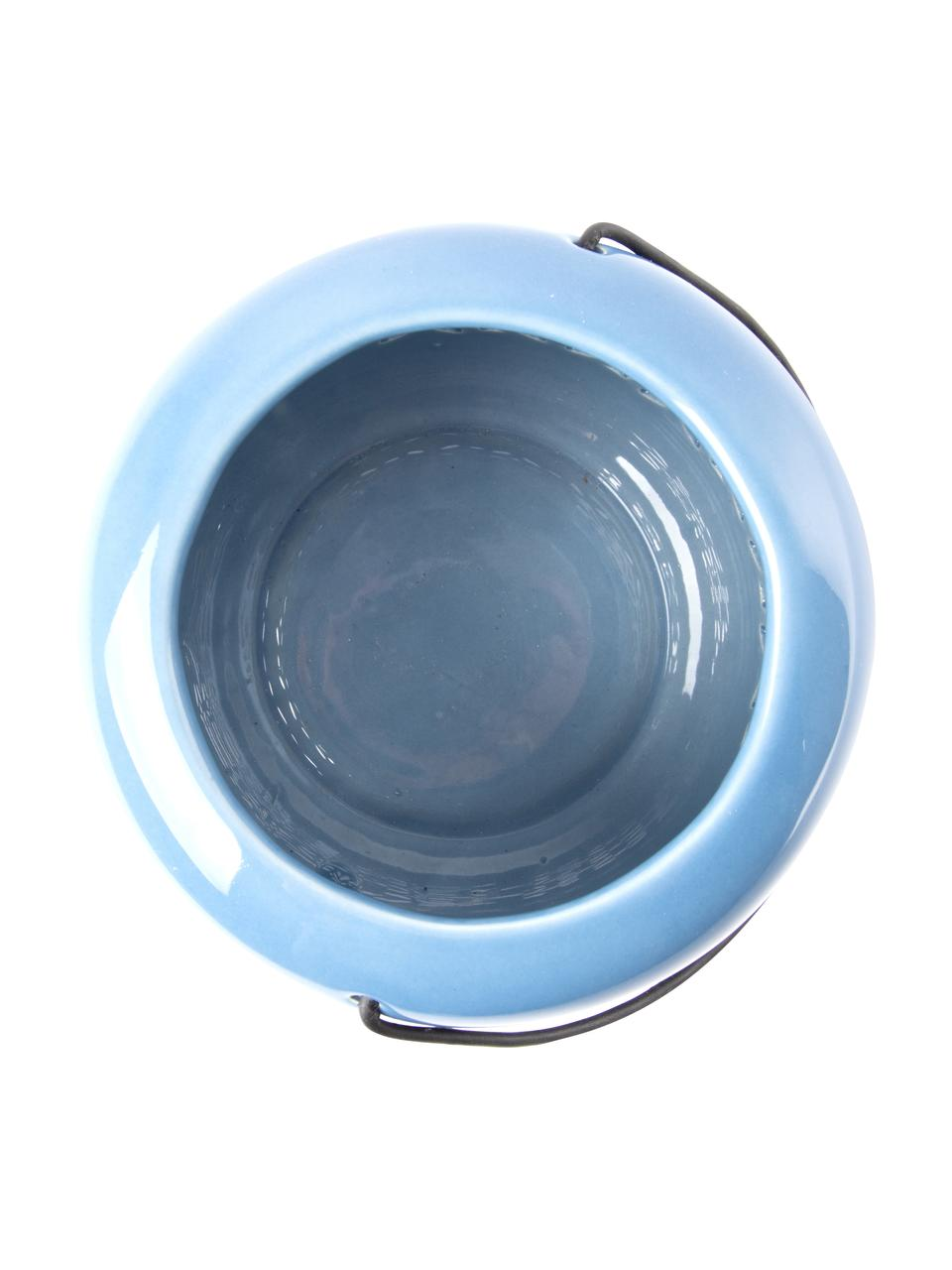 Teelichthalter-Set Shades, 3-tlg., Griff: Metall, Blau, Ø 12 x H 14 cm