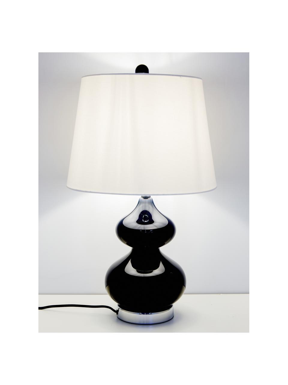 Lampada da tavolo Felicitas 2 pz, Paralume: cotone, Base della lampada: vetro verniciato, Blu, Ø 35 x Alt. 58 cm
