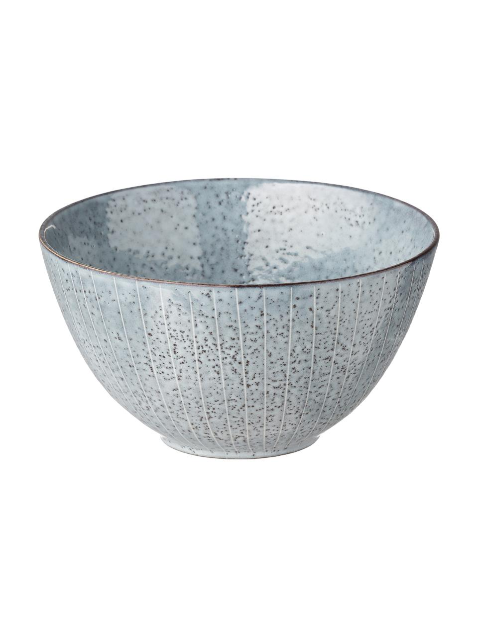 Handgemaakte kommen Nordic Sea Ø 15 cm van keramiek, 4 stuks, Steengoed, Grijs- en blauwtinten, Ø 15 x H 8 cm