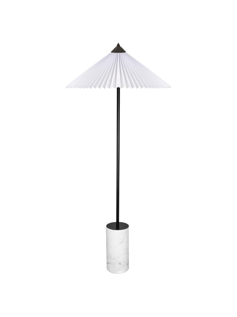 Grand lampadaire design Matisse, Blanc, noir