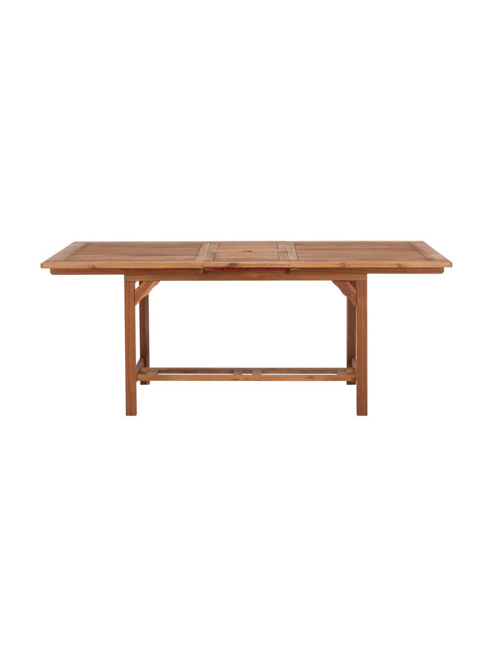 Ausziehbarer Gartentisch Somerset aus Holz, Akazienholz, geölt, Akazienholz, 150 x 75 cm