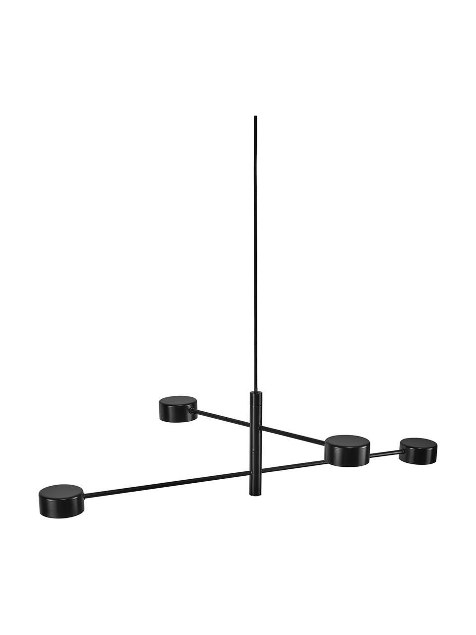 Grosse Dimmbare LED-Pendelleuchte Clyde, Lampenschirm: Metall, beschichtet, Baldachin: Metall, beschichtet, Schwarz, Ø 90 x H 22 cm