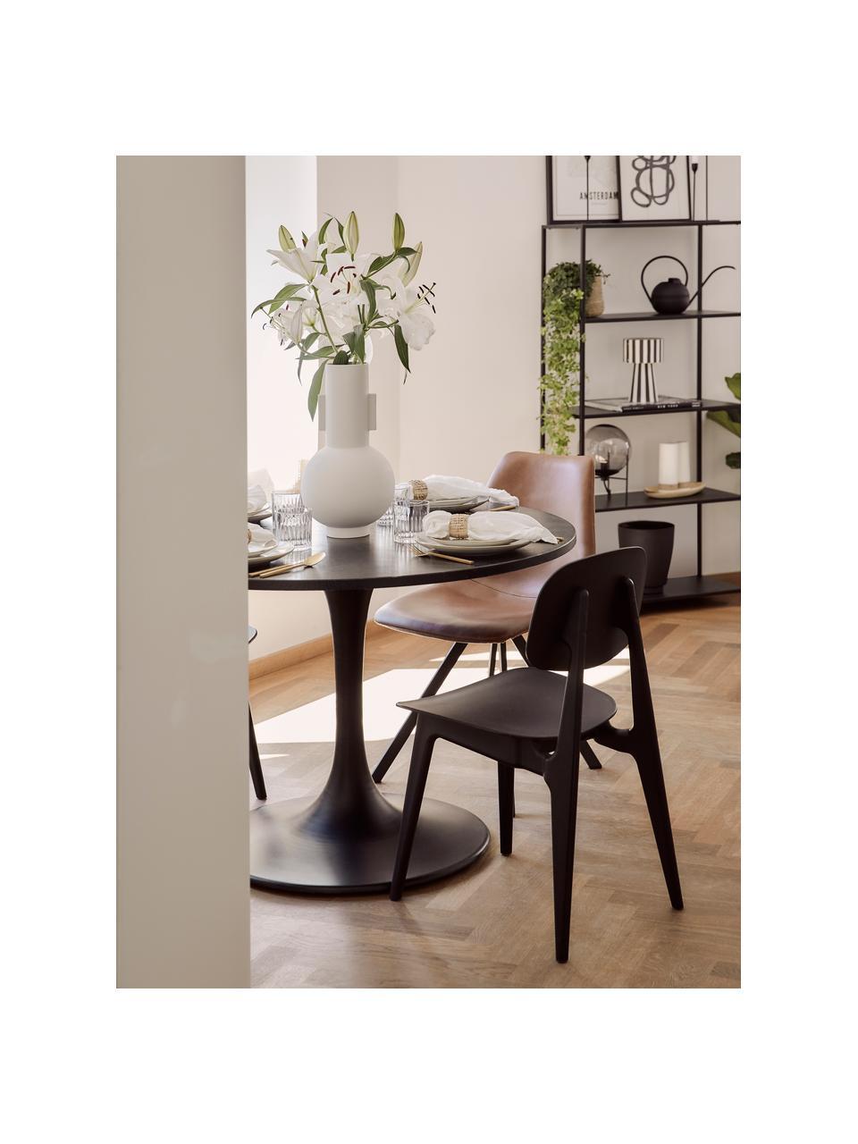 Chaise plastique Smilla, 2pièces, Noir, mat