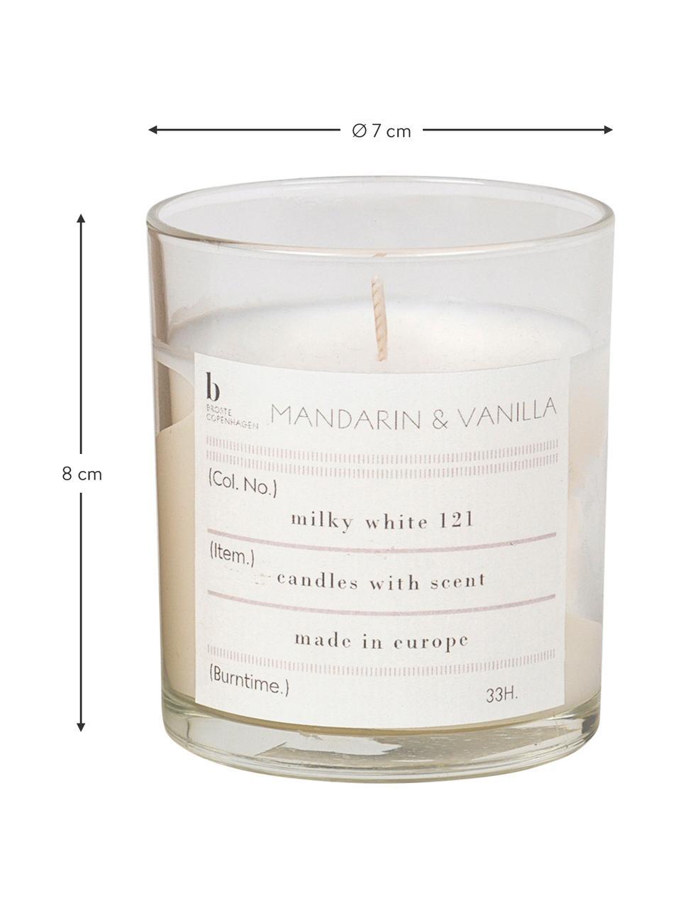 Duftkerze Mandarin (Mandarine & Vanille), Behälter: Glas, Mandarine & Vanille, Ø 8 x H 8 cm