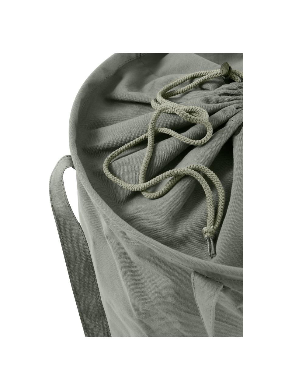 Wäschekorb Amore, Kunstfaser, Grau, Ø 35 x H 55 cm