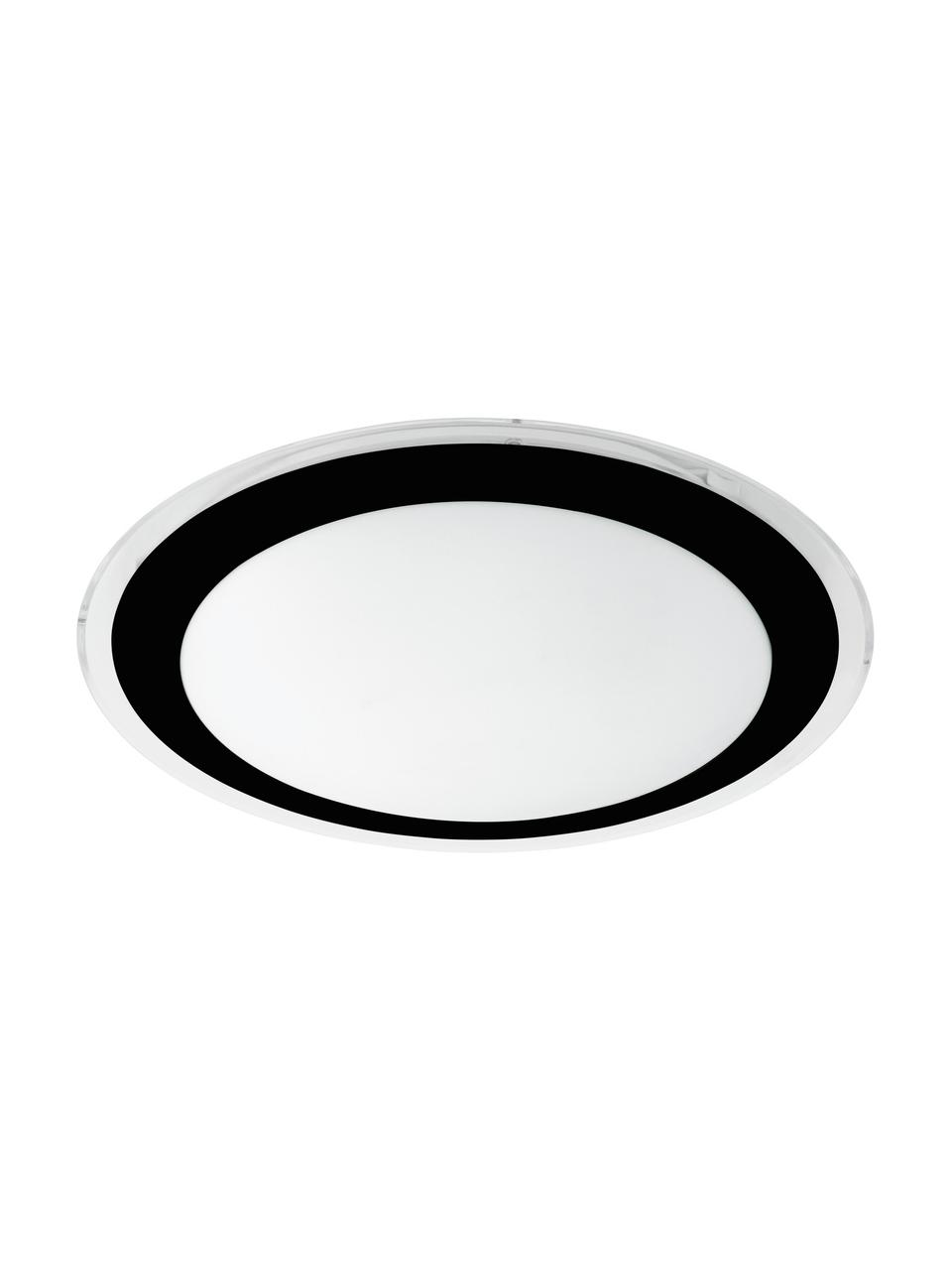 LED-Panel Competa, Lampenschirm: Kunststoff, Baldachin: Kunststoff, Schwarz, Weiß, Ø 34 x H 9 cm