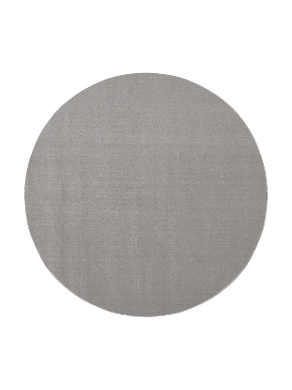 Runder Wollteppich Ida in Grau, Flor: 100% Wolle, Grau, Ø 200 cm (Größe L)