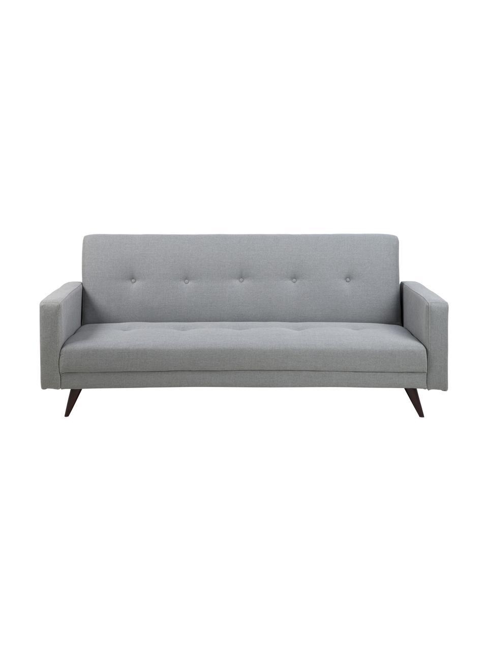Canapé convertible 3places gris clair Leconi, Tissu gris clair