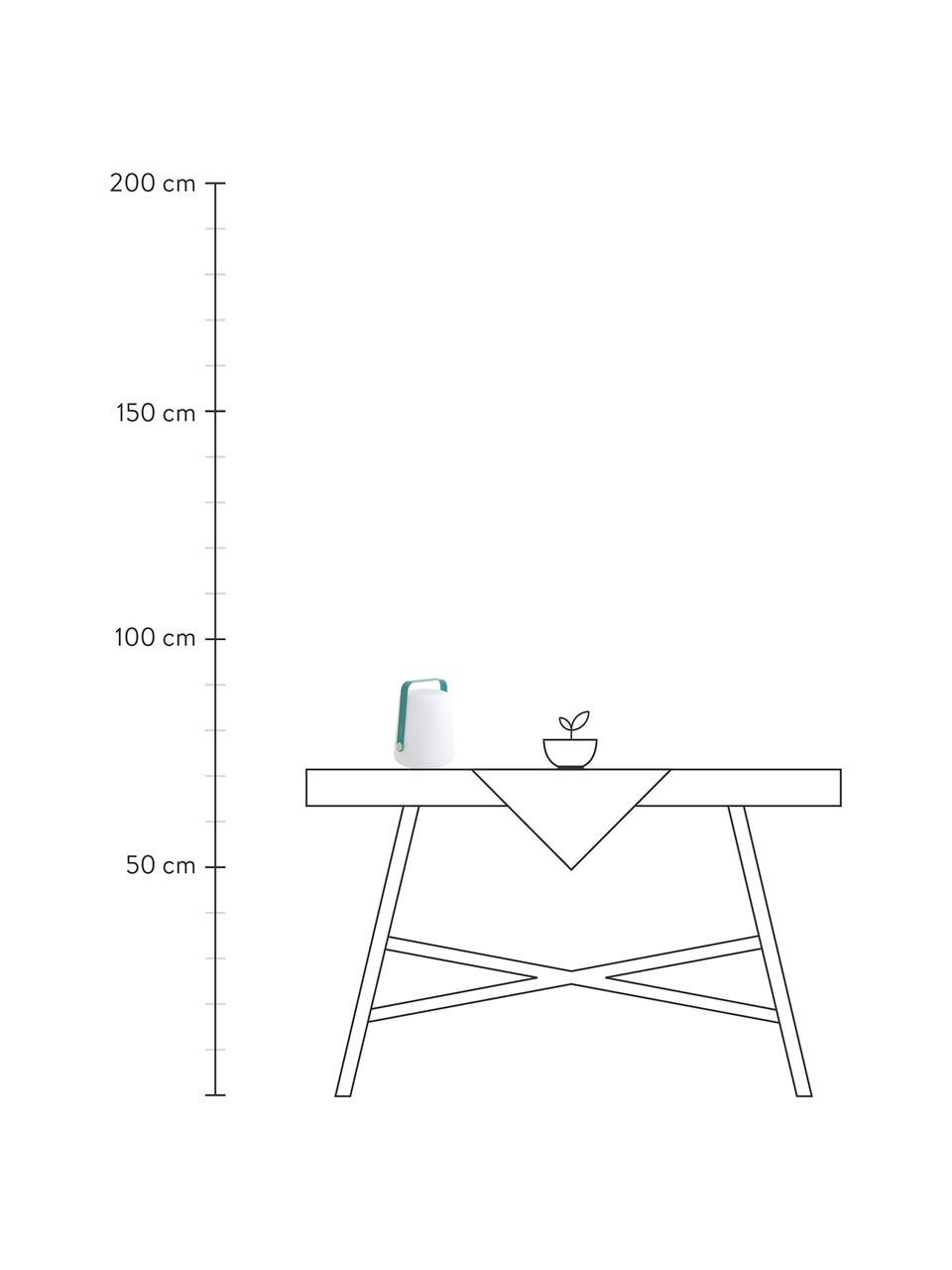 Zewnętrzna mobilna lampa stołowa z funkcją przyciemniania Balad, Seledynowy, Ø 19 x W 25 cm