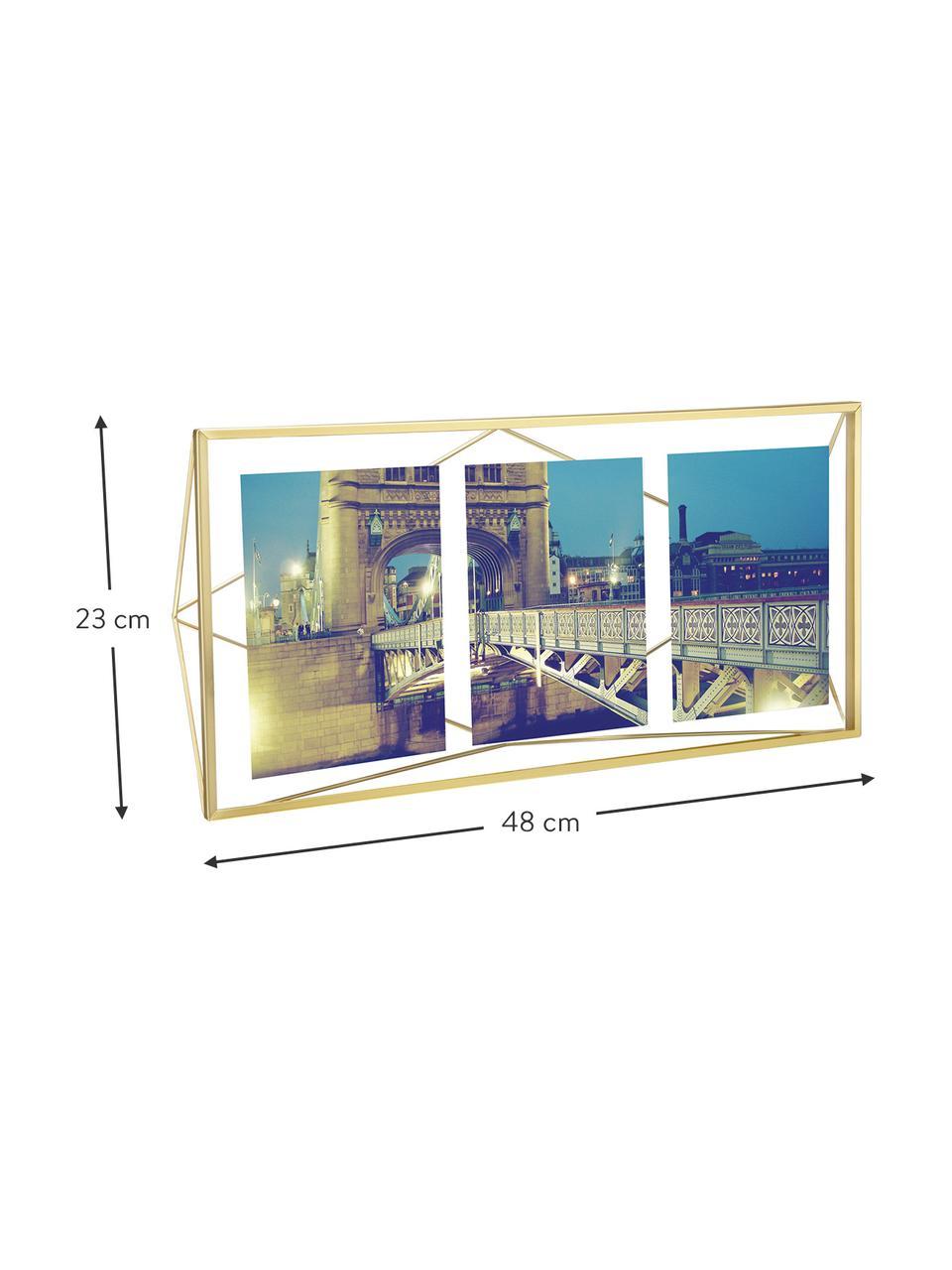 Ramka na zdjęcia Prisma, Mosiądz, 13 x 18 cm