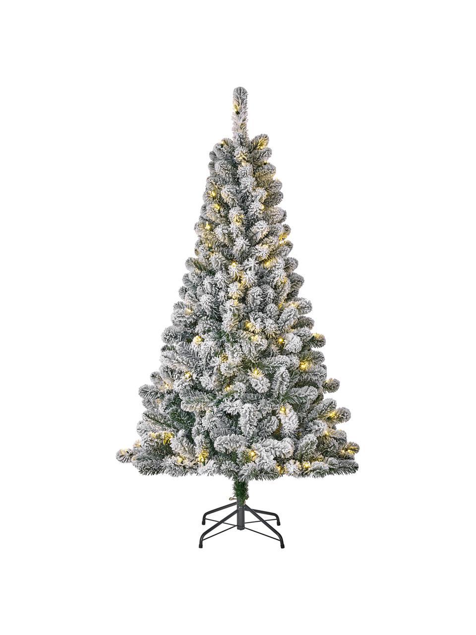 Künstlicher LED Weihnachtsbaum Millington, beschneit, Grün, vereist, Ø 86 x H 155 cm