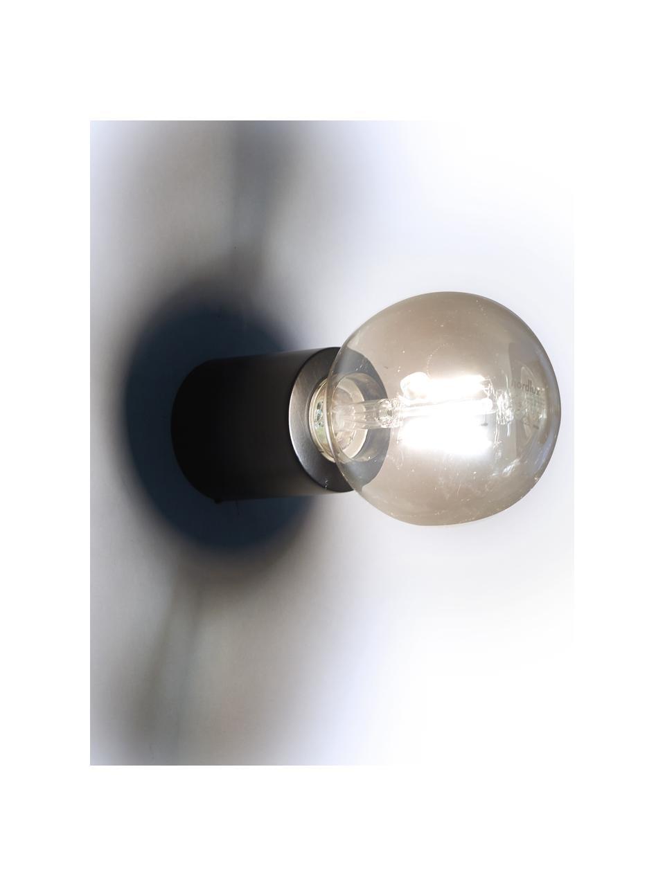 Lampada da parete o soffitto Chanty, Lampada: metallo verniciato a polv, Nero opaco, Ø 6  x Prof. 7 cm