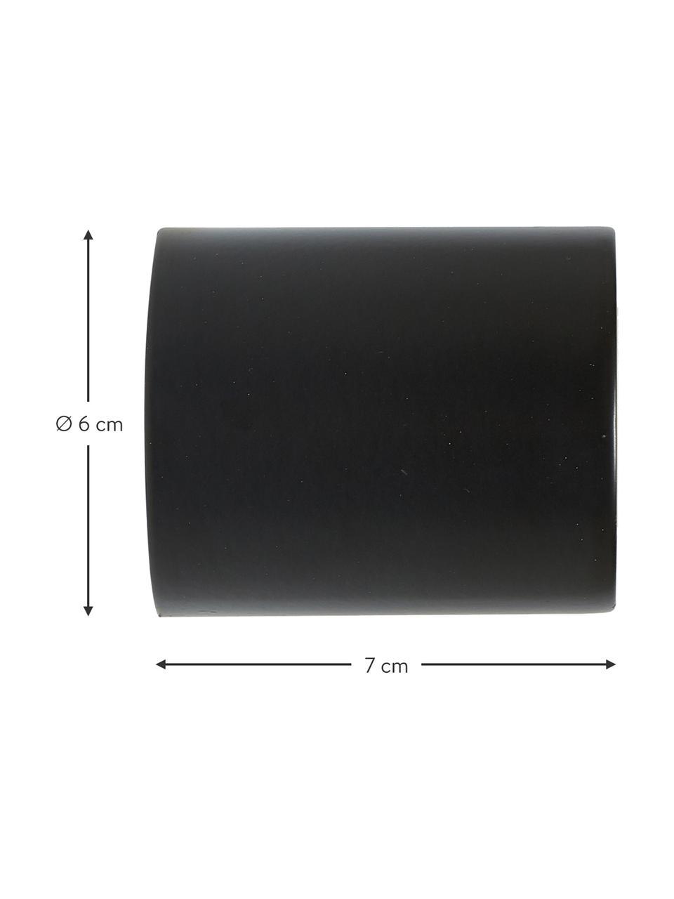 Wand- und Deckenspot Chanty, Schwarz, matt, Ø 6 cm