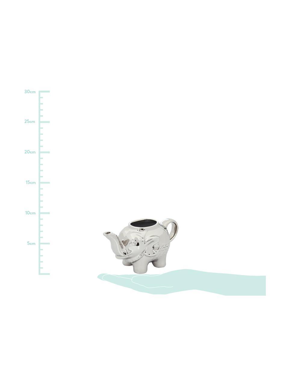 Porzellan Milchkännchen Elephant, 250 ml, Porzellan, Platinfarben, 15 x 8 cm