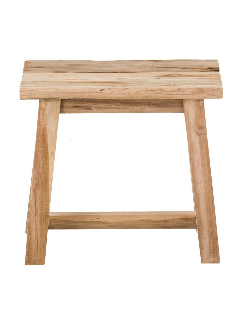 Sgabello in legno di teak riciclato Lawas, Legno di teak, finitura naturale, Legno di teak, Larg. 50 x Alt. 46 cm