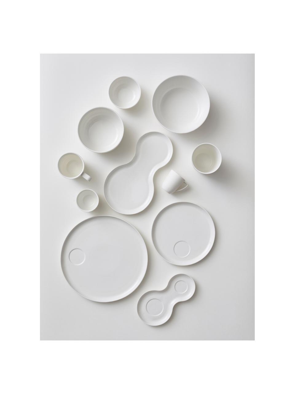 Becher Nudge in Weiß matt/glänzend, 4 Stück, Porzellan, Gebrochenes Weiß, Ø 9 x H 10 cm