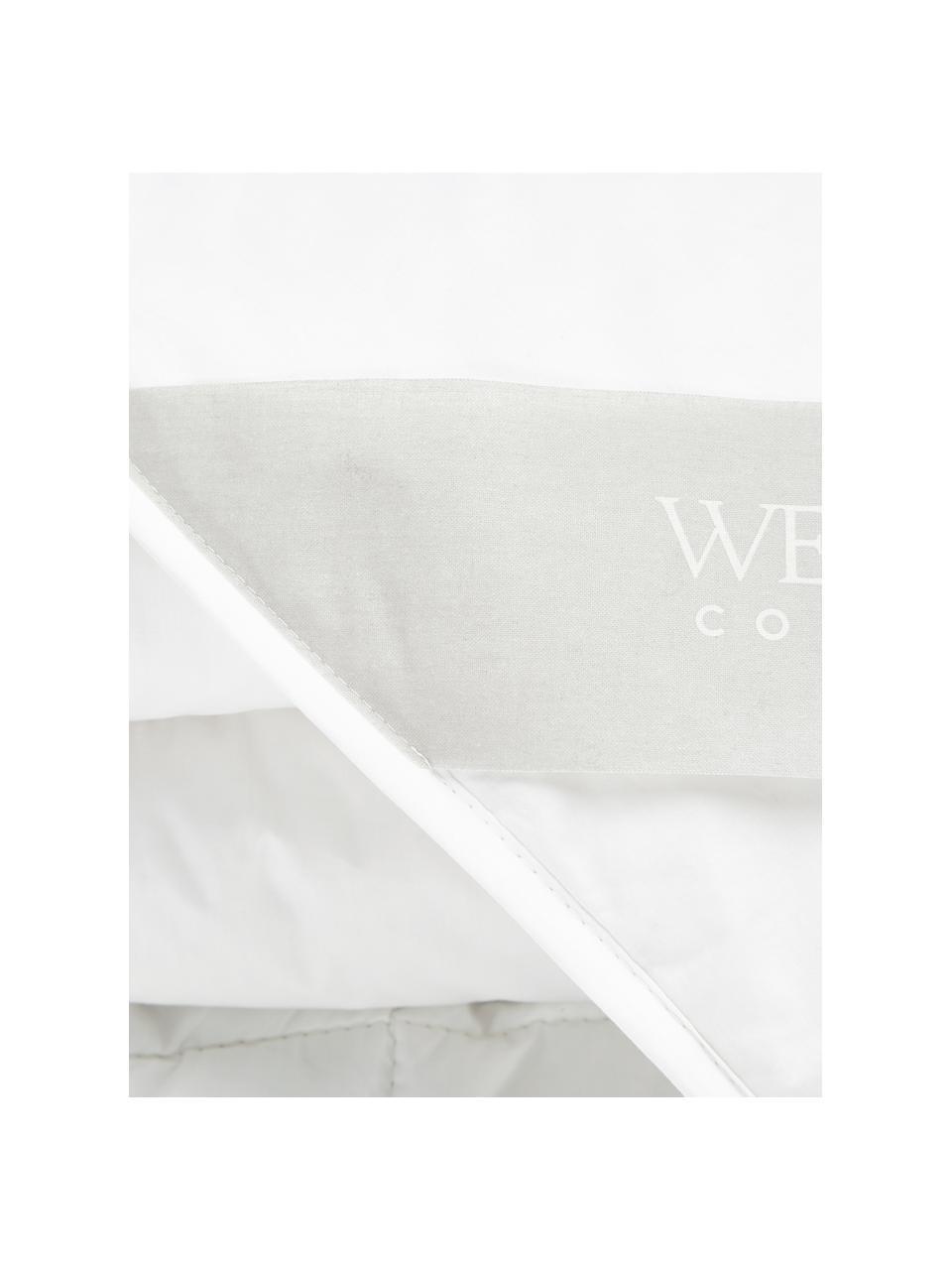 Vegane Bettdecke mit Kapokfaser und Baumwolle, leicht, Bezug: 100% Baumwolle, Weiß, 240 x 220 cm