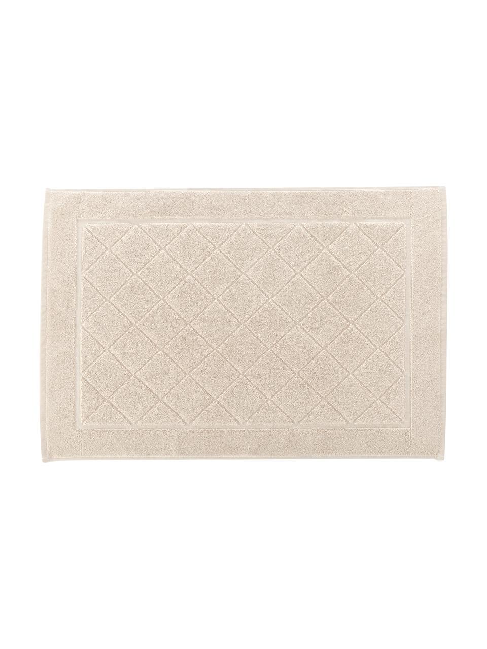 Badvorleger Diamond, 100% Baumwolle, Beige, 50 x 70 cm