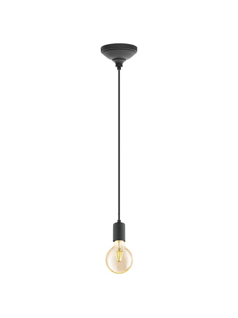 Mała lampa wisząca Trey, Czarny, matowy, Ø 10 x W 8 cm