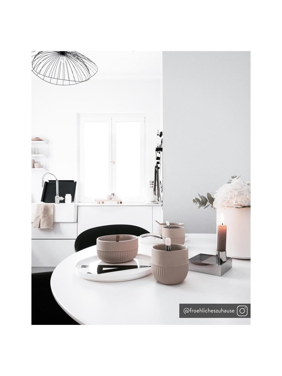 Talerz śniadaniowy Personal (warianty od A do Z), Porcelana kostna (Fine Bone China) Porcelana kostna to miękka porcelana wyróżniająca się wyjątkowym, półprzezroczystym połyskiem, Biały, czarny, Talerz A