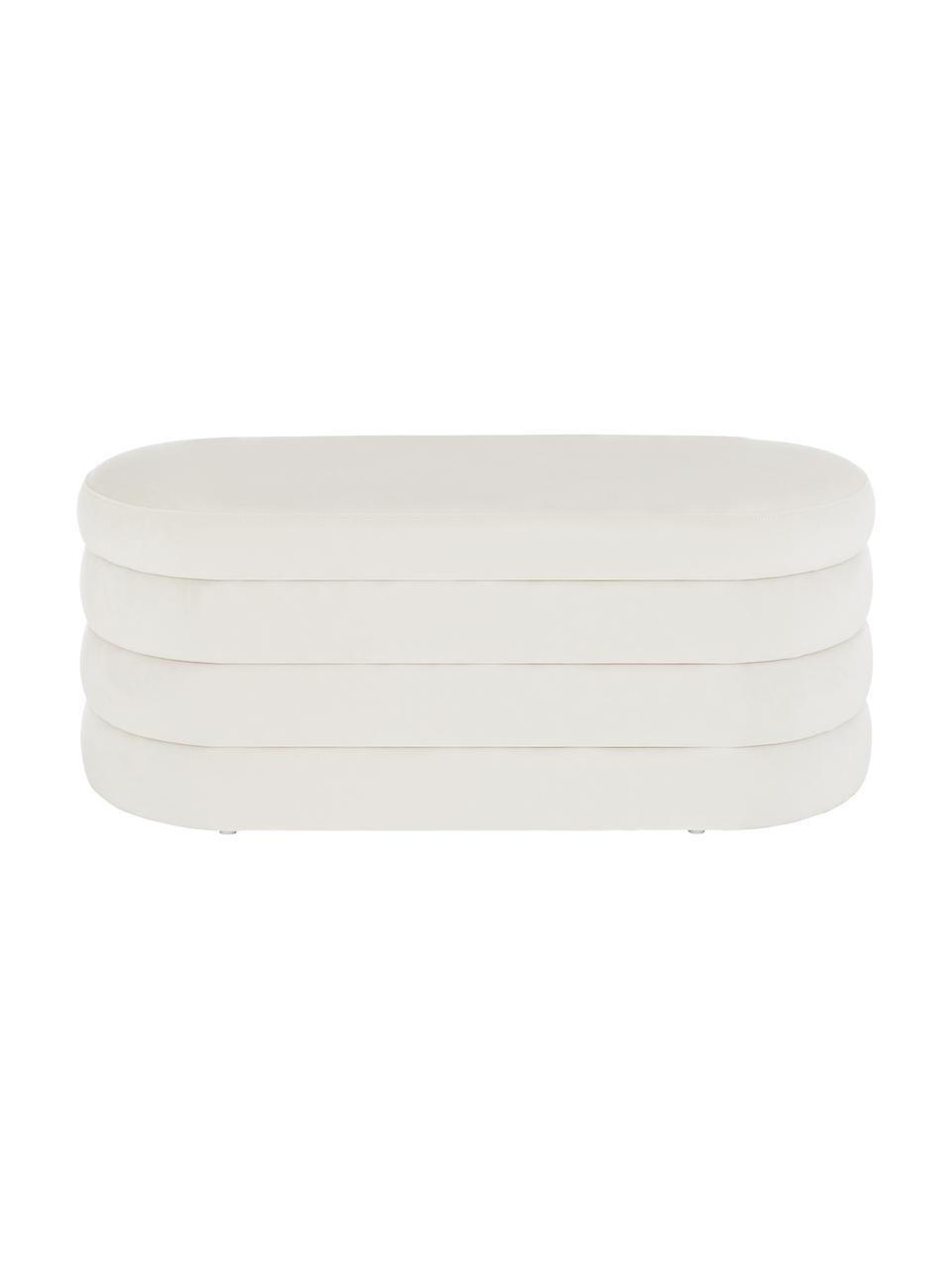 Banquette en velours Alto, Blanc crème