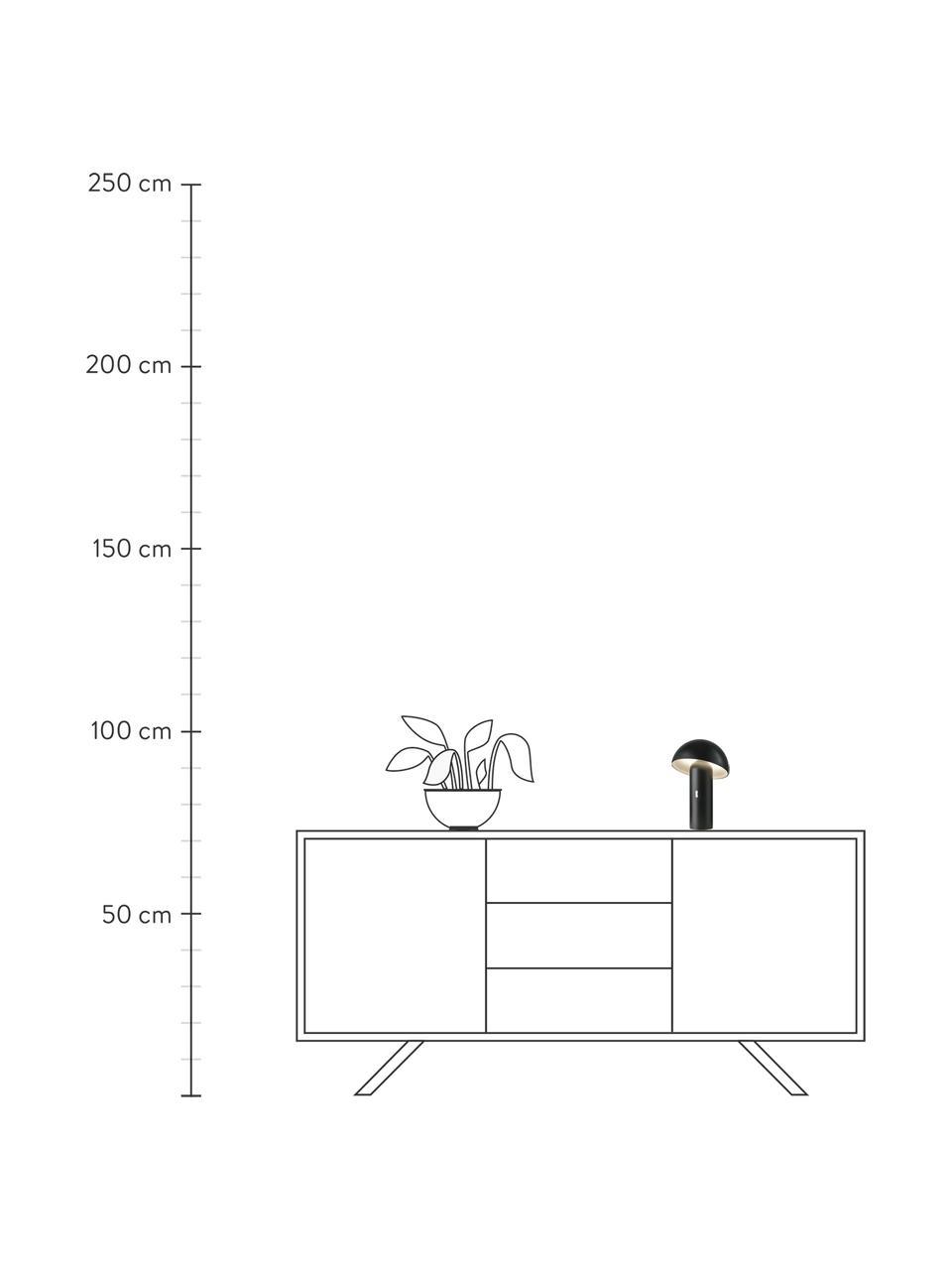 Kleine Mobile Dimmbare Tischlampe Svamp, Lampenschirm: Kunststoff, Lampenfuß: Kunststoff, Schwarz, Ø 16 x H 25 cm