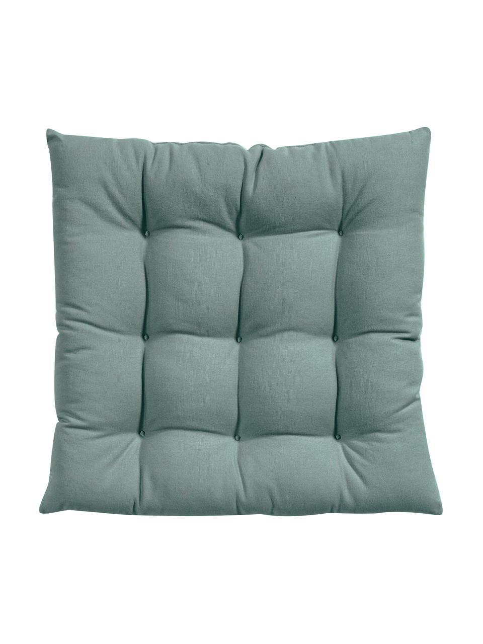 Sitzkissen Ava in Salbeigrün, Bezug: 100% Baumwolle, Grün, 40 x 40 cm