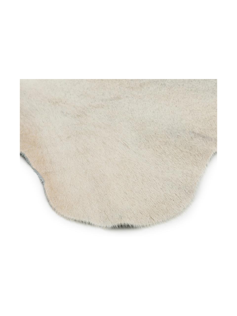Dywan ze skóry bydlęcej Anna, Skóra bydlęca, Biały, beżowy, Unikatowa skóra bydlęca 1090