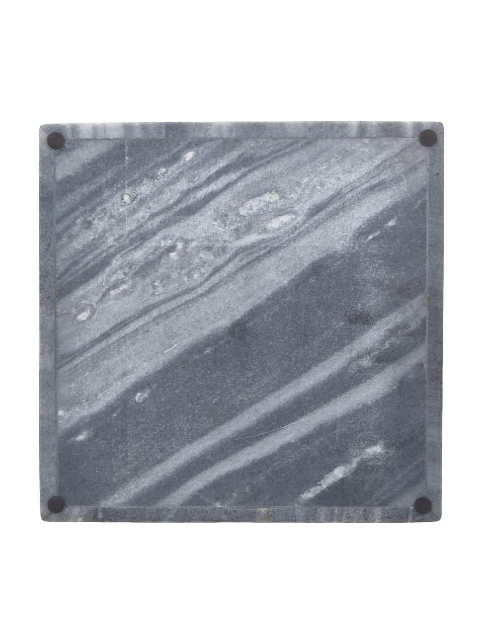Deko-Marmor-Tablett Sienna in Grau, Marmor, Grau, 30 x 4 cm