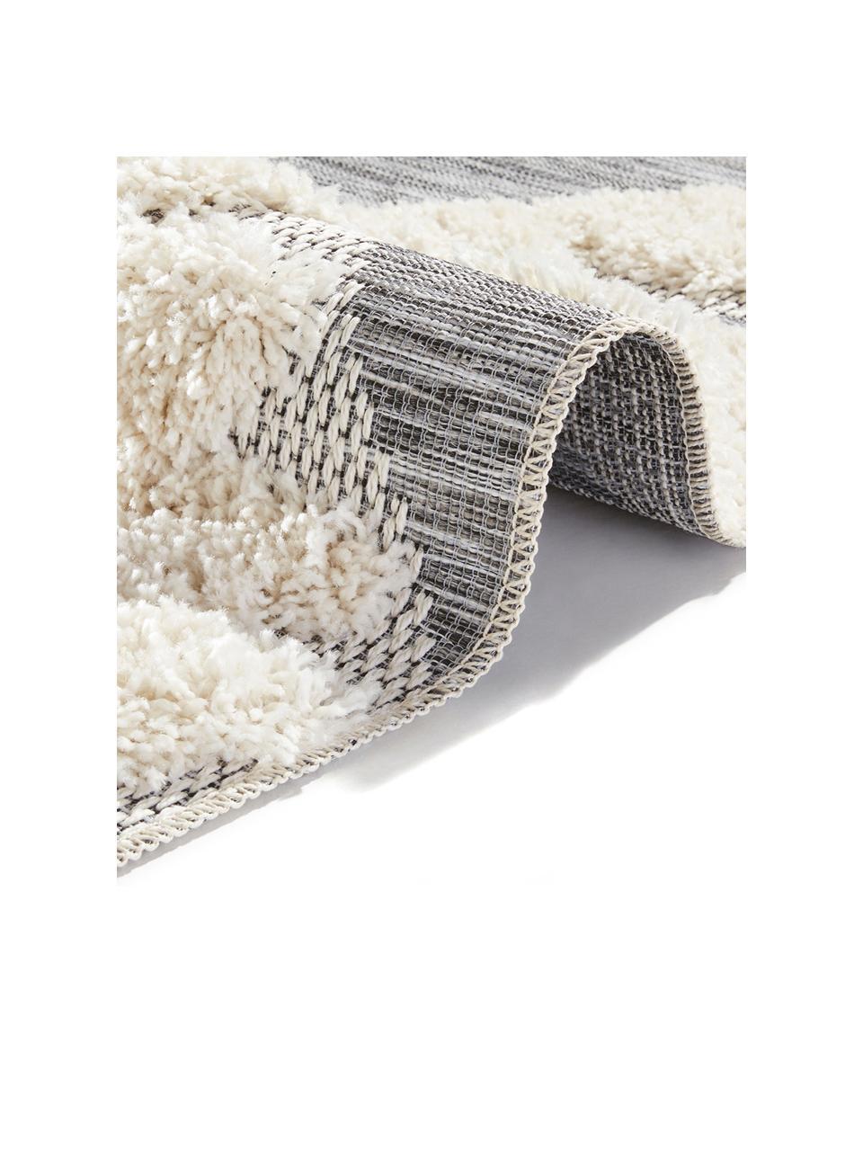Tappeto reversibile da interno-esterno Tiddas, Retro: polipropilene, Crema, grigio, Larg. 195 x Lung. 290 cm (taglia L)