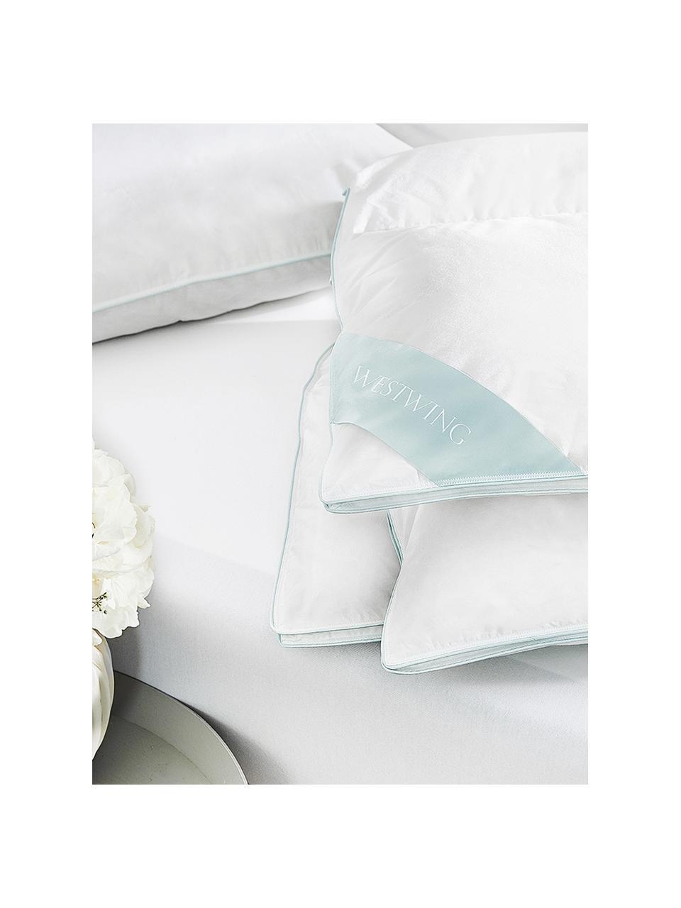 Daunen-Bettdecke Comfort, Vierjahreszeiten, Hülle: 100% Baumwolle, feine Mak, Weiß, 135 x 200 cm