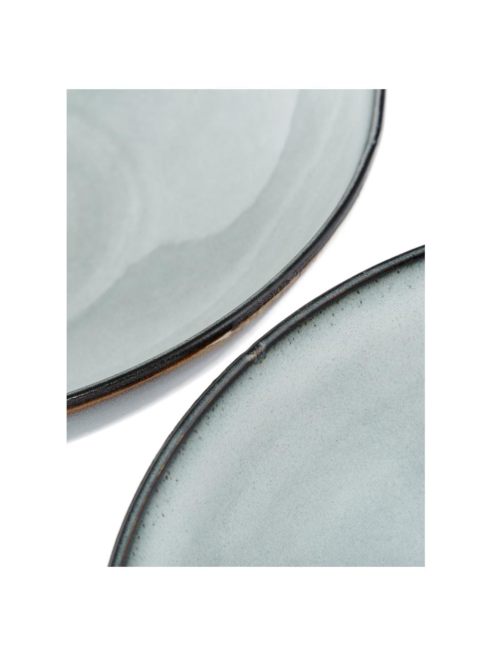 Ciotola fatta a mano Thalia 2 pz, Terracotta, Grigio, Ø 22 x Alt. 6 cm