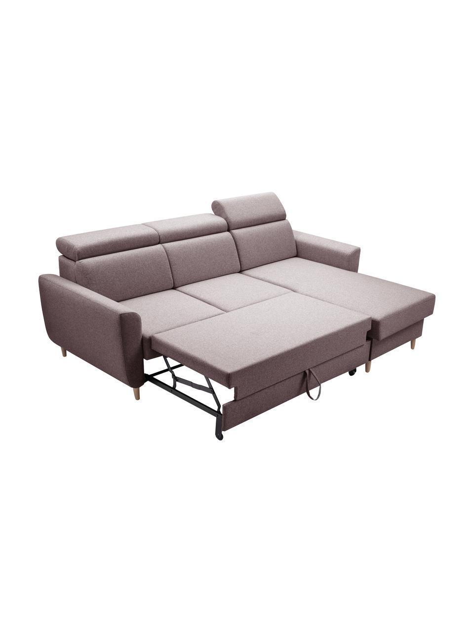 Sofa narożna z funkcją spania i schowkiem Gusto (4-osobowa), Tapicerka: 100% poliester, Beżowy, S 235 x G 170 cm