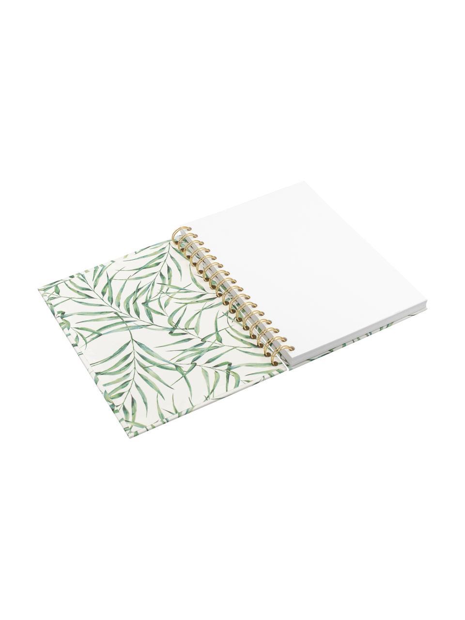 Quaderno a spirale Breeze, Bianco, verde, Larg. 16 x Alt. 21 cm