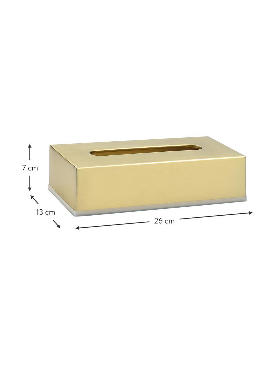 Pudełko na chusteczki Acton, Stal nierdzewna, powlekana, Odcienie mosiądzu, S 26 x W 7 cm