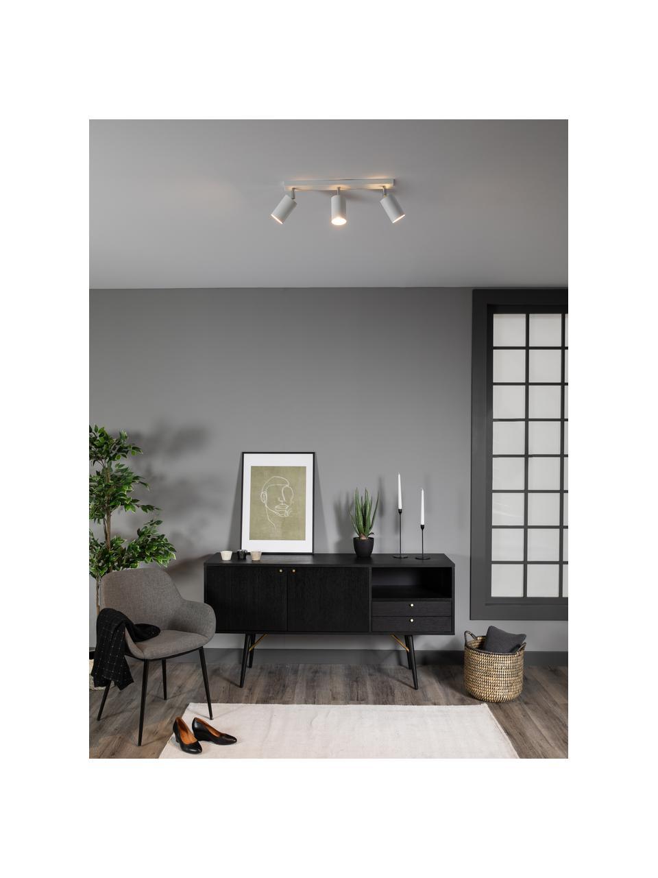 Faretti da soffitto bianchi Etna, Paralume: acciaio verniciato, Baldacchino: acciaio verniciato, Bianco, Larg. 45 x Alt. 15 cm