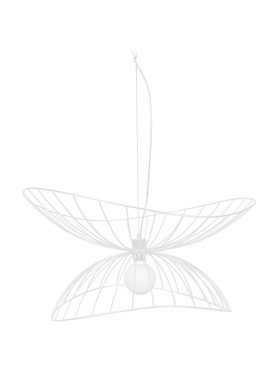 Design Pendelleuchte Ray, Lampenschirm: Metall, beschichtet, Baldachin: Metall, Weiß, Ø 70 x H 36 cm