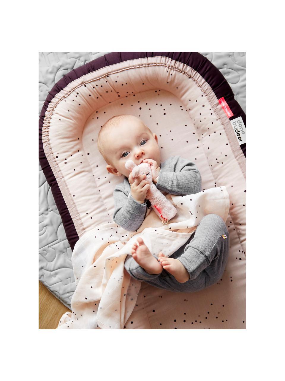 Gniazdo niemowlęce Dreamy Dots, Tapicerka: 100% bawełna, certyfikat , Blady różowy, S 50 x D 93 cm