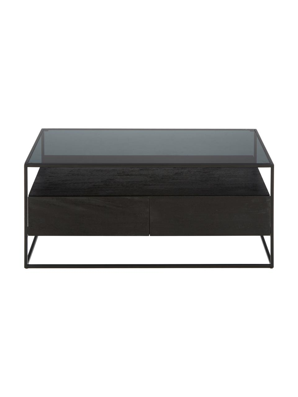 Table basse avec tiroirs Theodor, Noir